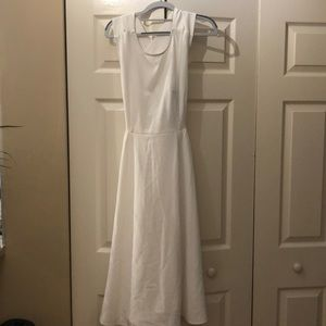 Nean Marcus White Criss Cross Back Dress